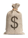 Bag with dollars. Royalty Free Stock Photos