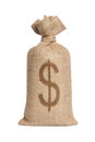 Bag with dollars. Stock Image