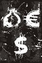 Bag , euro, dollar, money Royalty Free Stock Photo