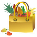Bag with food Stock Photos