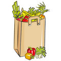 Bag full of fresh groceries Royalty Free Stock Photos