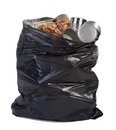 Bag full of garbage Royalty Free Stock Photo