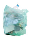 Bag full of garbage isolated on white background Royalty Free Stock Photos