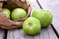 Bag of Green Tomatoes Royalty Free Stock Photo