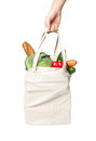 Bag with grocery purchase carry Royalty Free Stock Images