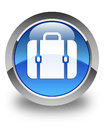 Bag icon glossy blue round button Royalty Free Stock Photo