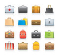 Bag icon set Stock Image