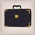 Bag portfolio briefcase, brief-case diplomat leather retro desig Royalty Free Stock Photo