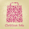Bag For Shopping With snowflakes. EPS 8 Royalty Free Stock Image