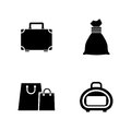 Bag. Simple Related Vector Icons