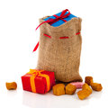 Bag Sinterklaas presents Royalty Free Stock Photos