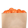 Bag of tangerine isolated on white background Royalty Free Stock Image