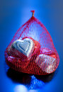 Bag of Valentine Candy Hearts Royalty Free Stock Image