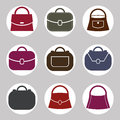 Bag vector icons set symbols collection Royalty Free Stock Image