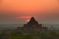 Bagan is an ancient city located in the mandalay region of burma myanmar Stock Images