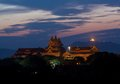 Bagan archaeological museum twilight myanmar Stock Photo