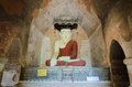 Bagan buddha statue, Myanmar Royalty Free Stock Images
