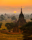 Bagan, Myanmar. Stock Photos