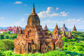 Bagan mynmar archeological zone myanmar temples in the park Stock Photo