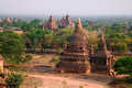 Bagan Plain near the Old Bagan Wall in Myanmar Stock Photo
