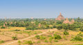 Bagan plains myanmar ancient temples in Royalty Free Stock Photography