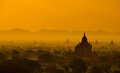 Bagan sunrise Stock Photography