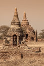 Bagan temples and stupas in myanmar Stock Image