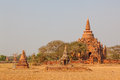 Bagan temples and stupas in myanmar Royalty Free Stock Photography