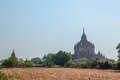 Bagan temples and stupas in myanmar Royalty Free Stock Images