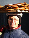 Bagel Seller Stock Photo