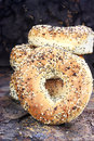 Bagels de Healthly Photo libre de droits