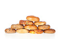 Bagels no fundo branco Fotografia de Stock Royalty Free