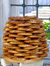 Bagels traditional turkish at street vendor Royalty Free Stock Photography