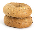 Bagels on the white background Royalty Free Stock Photos