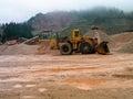 Bager hard work machine Royalty Free Stock Photos