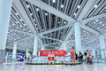 Baggage claim Beijing Capital Airport Terminal 3 Royalty Free Stock Photo