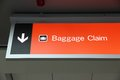 Baggage claim generic airport signage in las vegas illuminated sign Royalty Free Stock Photos