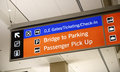 Baggage claim and ground transportation sign concept of travel Stock Image