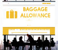Baggage Luggage Allowance Passenger Plane Concept Royalty Free Stock Photo