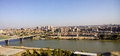 Baghdad iraq – july aerial photographs of the city of and shows where residential complexes and the tigris river and Royalty Free Stock Photography