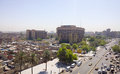 Baghdad iraq – july aerial photographs of the city of and shows where residential complexes and the tigris river and Stock Photography