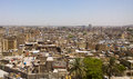 Baghdad iraq – july aerial photographs of the city of and shows where residential complexes and the tigris river and Royalty Free Stock Image
