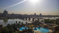 Baghdad at sunrise iraq – august aerial photographs of the city of during and shows where residential complexes and the Royalty Free Stock Images
