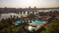 Baghdad at sunrise iraq – august aerial photographs of the city of during and shows where residential complexes and the Stock Image