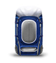 Bagpacker dark blue backpack on a white background Royalty Free Stock Images