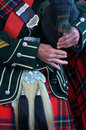 Bagpipe player Royalty Free Stock Photo