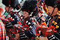 Bagpipers in Edmonton's Capital Ex parade Royalty Free Stock Photo