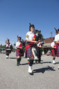Bagpipers marching at the rathdrum days in rathdrum idaho on july Royalty Free Stock Photography