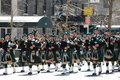 Bagpipers in New York City Saint Patrick's Parade Royalty Free Stock Photo