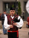 Bagpipes Bands in Asturias, Spain Royalty Free Stock Photography